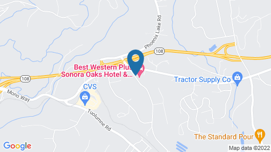 Best Western Plus Sonora Oaks Hotel & Conference Center Map