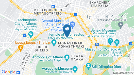 Athens Hub Hostel  Map