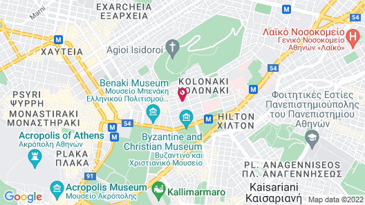 COCO-MAT Hotel Athens Map