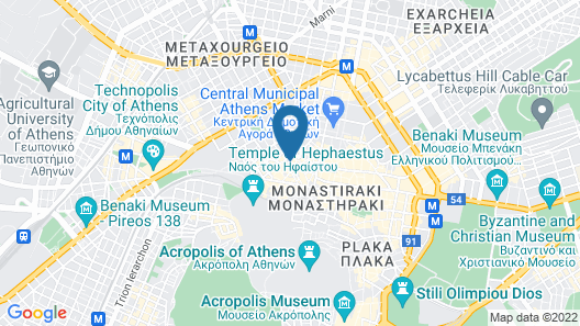 BED in Athens Map
