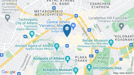Pallada Athens Boutique Rooms & Apartments Map