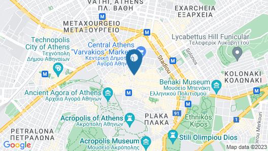 Attalos Hotel Map