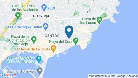 Apartamentos Marina Playa de Torrevieja Map
