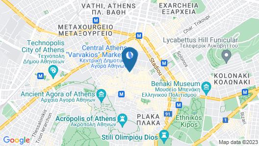 AthinA STREETAPARTMENTS Map