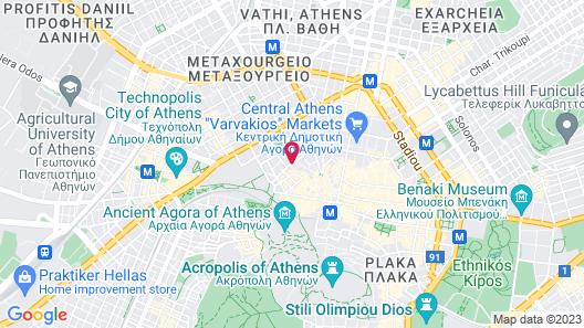A.P. Acropolis View Apartments Map