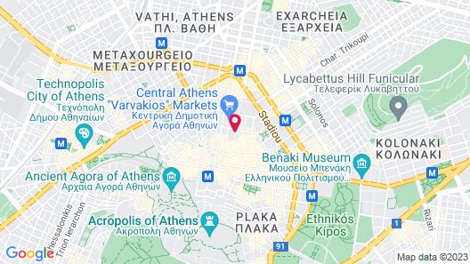 The Pinnacle Athens Map