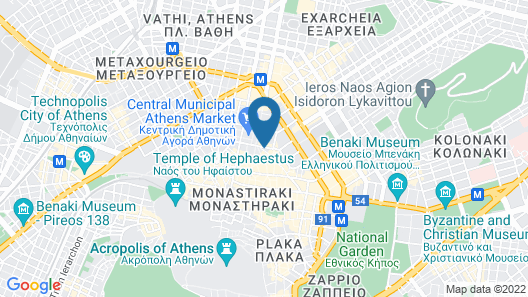 Athens Mansion Luxury Suites Map
