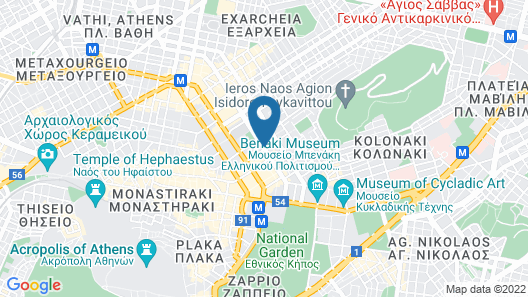 Academias Hotel, Autograph Collection Map