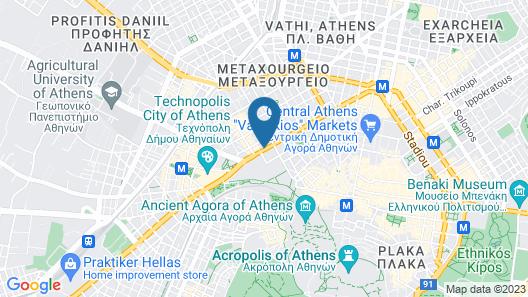 Athenaeum Eridanus Luxury Hotel Map