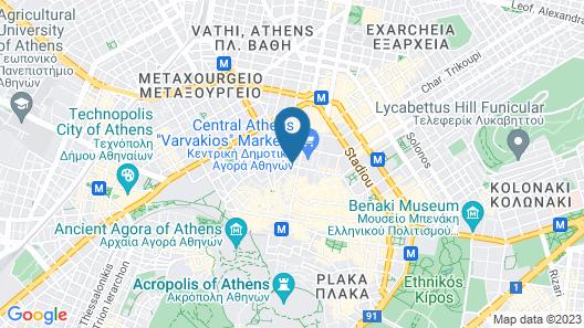 Athens Market Portrait Map
