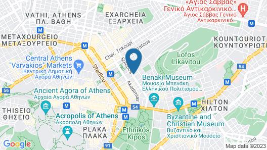 Olala Kolonaki Suites  Map