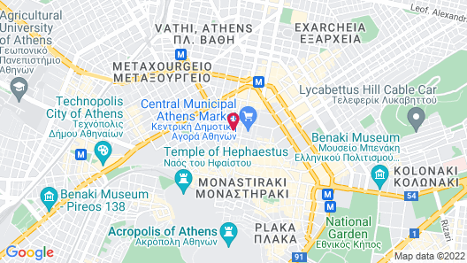 Athens Center Square Hotel Map