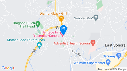 Heritage Inn Yosemite/Sonora Map