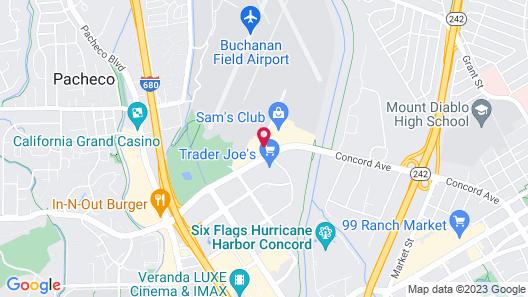 Crowne Plaza Concord / Walnut Creek, an IHG Hotel Map