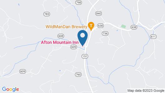 Afton Mountain Bed & Breakfast Map