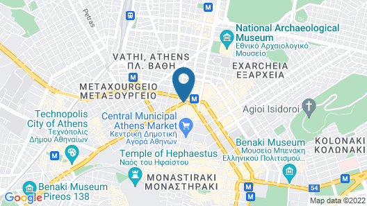 Athens Tiare Hotel Map
