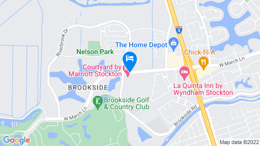 Courtyard by Marriott Stockton Map