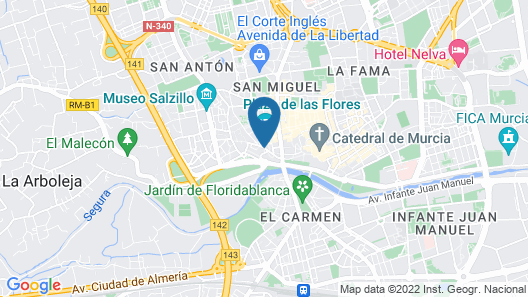 Hotel Zenit Murcia Map