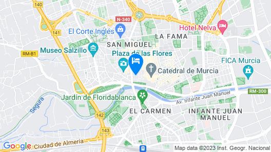 Hesperia Murcia Centro Map