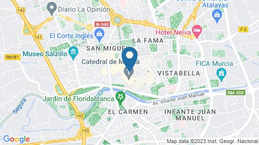 Hotel Cetina Murcia Map