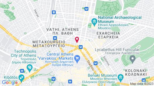Cosmopolit Athens Hotel Map
