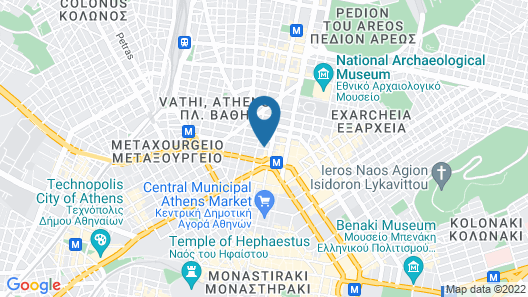 Cosmopolit Athens Hotel Map