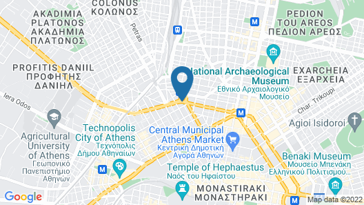 Wyndham Grand Athens Map