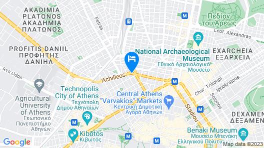 Wyndham Grand Athens Map
