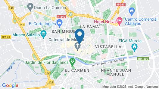 Hotel Bcool Murcia Map