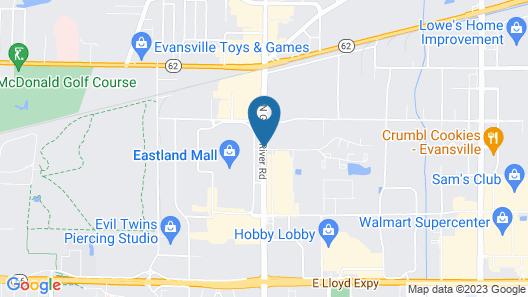 Howard Johnson by Wyndham Evansville East Map