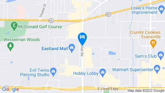 Howard Johnson by Wyndham Evansville East Map