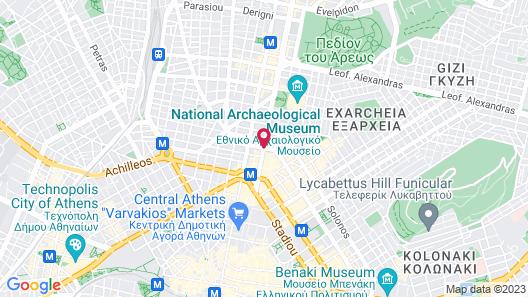Melia Athens Map