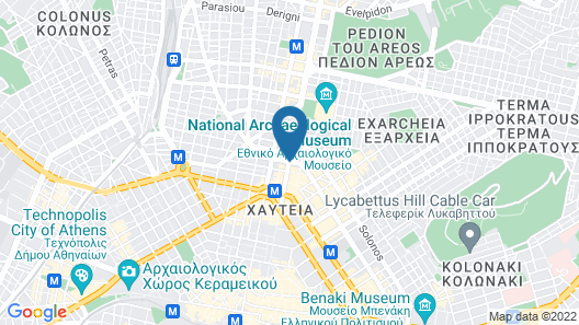 Melia Athens Map