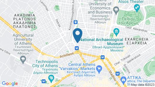Athens Lotus Hotel Map