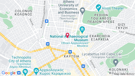 Art Hotel Athens Map
