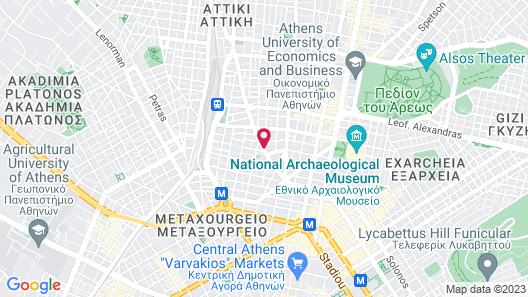 Novotel Athenes Map