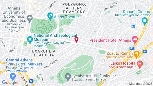Athens Zafolia Hotel Map
