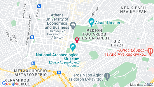 Areos Hotel Map