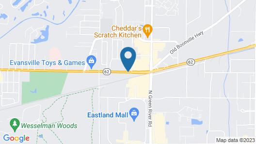 Super 8 by Wyndham Evansville East Map