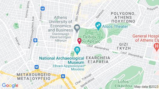 Radisson Blu Park Hotel, Athens Map