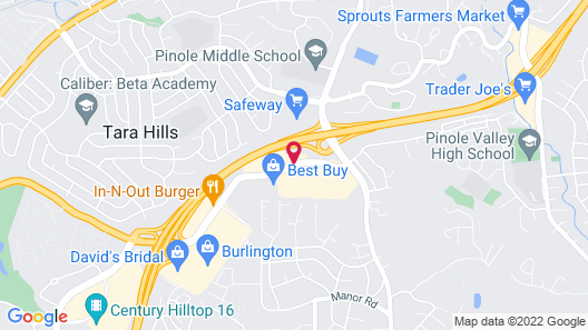 Motel 6 Pinole, CA Map