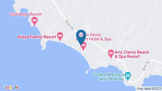 Notion Kesre Beach Hotel & Spa Ozdere Map