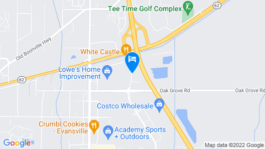 Econo Lodge Inn & Suites Evansville Map