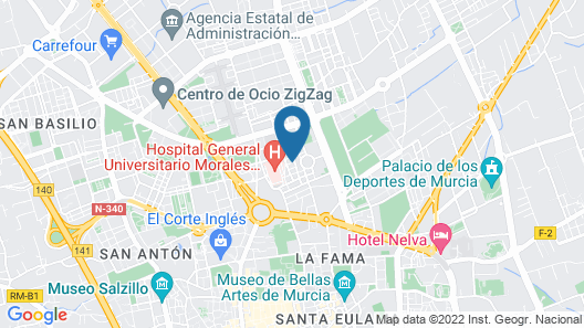 Hotel Churra Vistalegre Map
