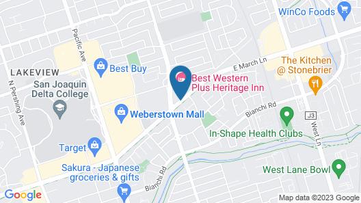 Best Western Plus Heritage Inn Map