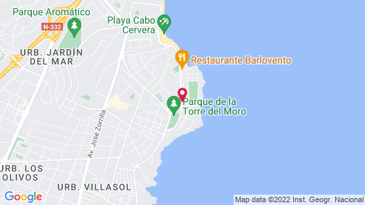 Hotel Playas de Torrevieja Map