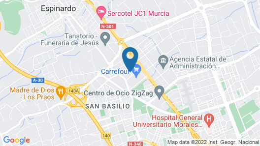ibis Murcia Map