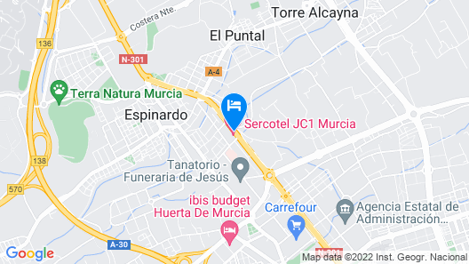 Hotel Sercotel JC1 Murcia Map