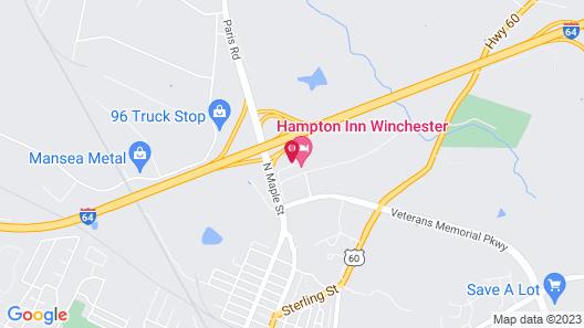 Red Roof Inn Lexington - Winchester Map