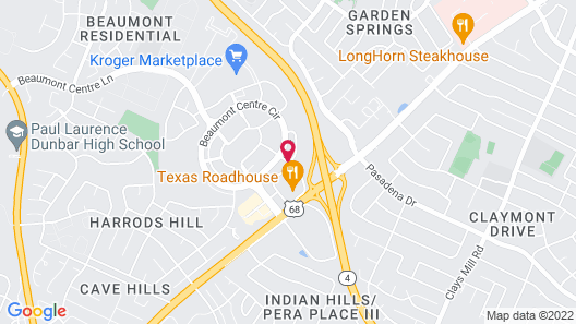 Hampton Inn Lexington South-Keeneland/Airport, KY Map